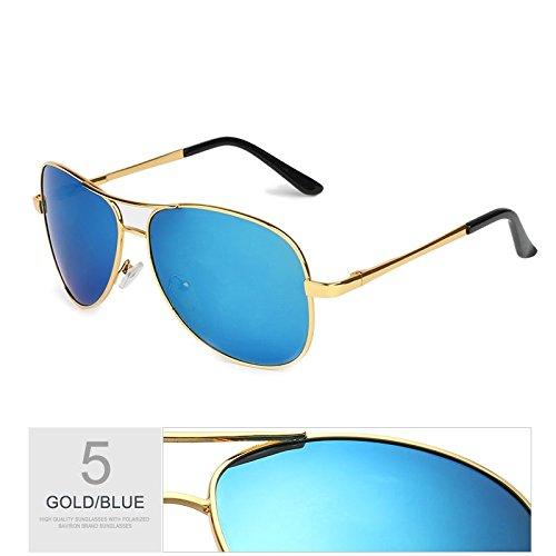 del hombre Aviador de viaje sol Gris plata hombres los Blue guiar de a de TL UV400 polarizadas gafas negro para gafas sol gafas Gold de Sunglasses piloto moda gafas qXBZ645wA
