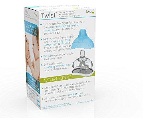Large Product Image of Kiinde Twist Active Latch Nipple - 2 pack, Medium Flow