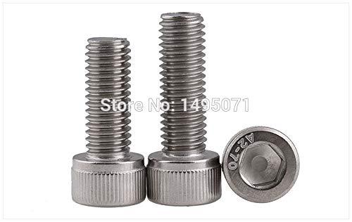 Ochoos 2-5pcs/Lot Metric M8 DIN912 304 Stainless Steel A2 Hex Socket Head Cap Screw Bolts - (Dimensions: M8x20mm 5pcs) - Hex Socket Dimensions