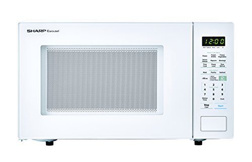 SHARP ZSMC1441CW Carousel 1.4 Cu. Ft. 1000W Countertop Microwave Oven in White (ISTA 6 Packaging), Cubic Foot, 1000 Watts (Mid Sized Microwave Oven)