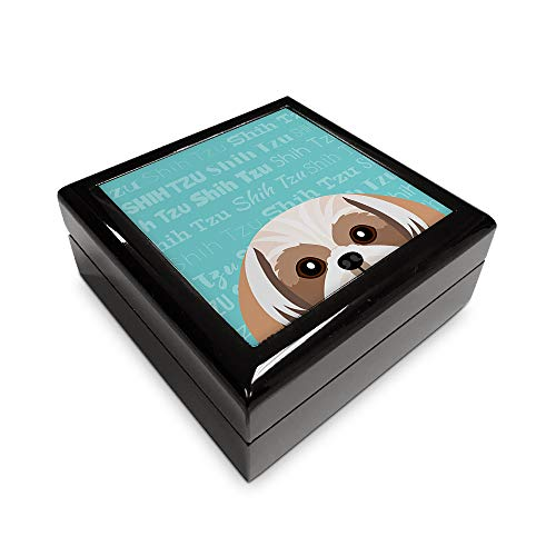 Mystic Sloth Adorable Dog Breed Specific Jewelry/Memory Box (Shih Tzu)