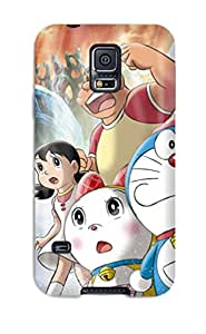 First-class Case Cover For Galaxy S5 Dual Protection Cover Doraemon