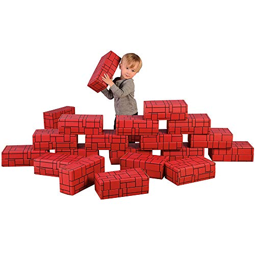 Constructive Playthings Giant Constructive Stacking Blocks for Indoor Play, Set of 12