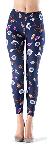 LMB Lush Moda Extra Soft Leggings with Designs- Variety of Prints - 12F