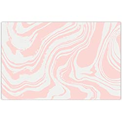 "Pack of 25 Paper Placemats Pretty Pink Swirl Dinner Place Mats Bridal Baby Girl Shower Quinceañera Sweet Sixteen Birthday Parties Dining Table Setting Disposable Easy Cleanup 17"" x 11"" DB Party Studio"