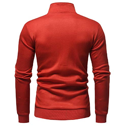 Mandarin Sweatshirt Jacket Colors Collar Candy Red Howme Cotton Men Various wZaZI1