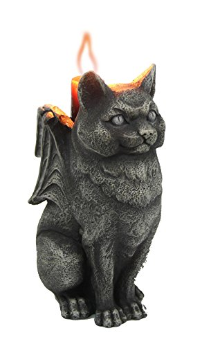 - Pacific Giftware Cat Stone Gargoyle Candle Holder Collectible Figurine 5 Inches Tall