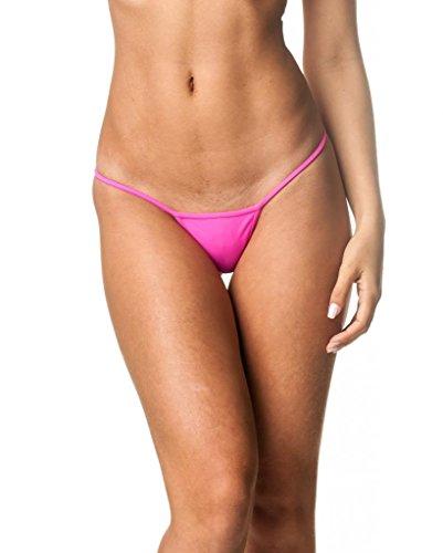 COQUETA Brazilian Teeny Micro Thong Mini Bikini Swimsuit G String HOT PINK-MEDIUM