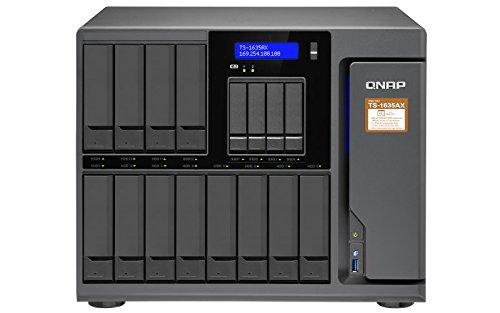 QNAP TS-1635AX NAS Escritorio Ethernet Negro - Unidad Raid (Unidad de Disco Duro, SSD, M.2, Serial ATA III, 2.5/3.5