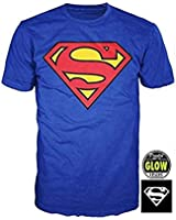 Superman Glow in the Dark Logo Men's T-Shirt
