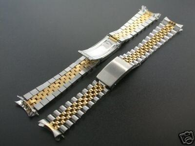 Jubilee Watchband for Rolex Men Real Gold 18k/SS 19mm Watch