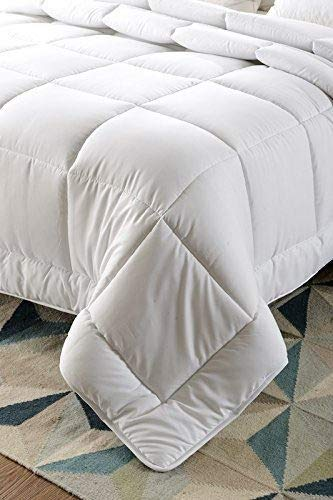 Lavish Linens ! Back to School Collection ! Twin/Twin XL Size Comforter for Dorm Bed Solid White - 1800 Series Brushed Microfiber - for Boys & Girls by Lavish Linens (Image #3)