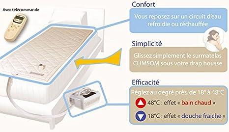 Climsom - Cubrecolchón Doble 140 x 190 cm calefacción o frío: Amazon.es: Hogar