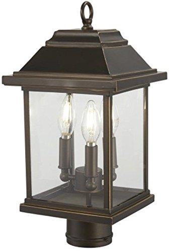 (Minka Lavery Outdoor Post Lights 72636-143C Mariner's Pointe Exterior Post Lantern, 3-Light 180 Watts, Oil Rubbed Bronze )