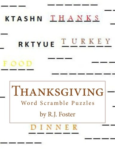 Thanksgiving Word Searches And Crossword Puzzles - Thanksgiving: Word Scramble Puzzles