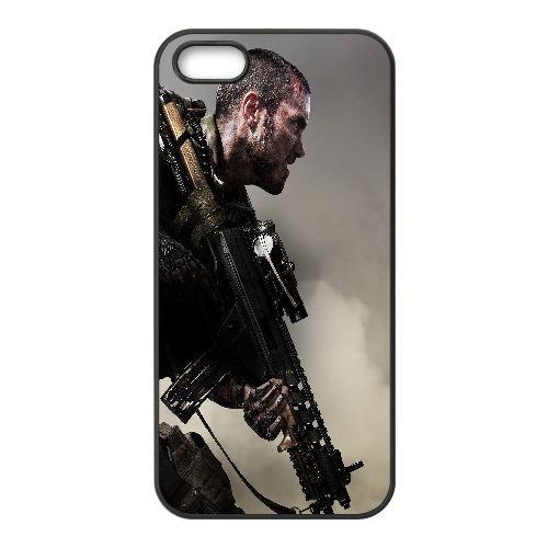 W8U04 appel du devoir avancé guerre ascendance T1V4VO coque iPhone 4 4s cellulaire cas de téléphone couvercle coque noire RU7BSI3PK