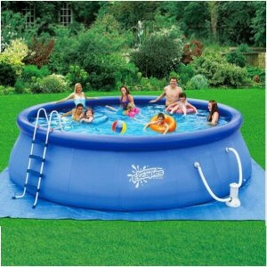 Quick Set Ring Pool 18 39 X 48 With 1000 Gph Filter Pump Toys Games