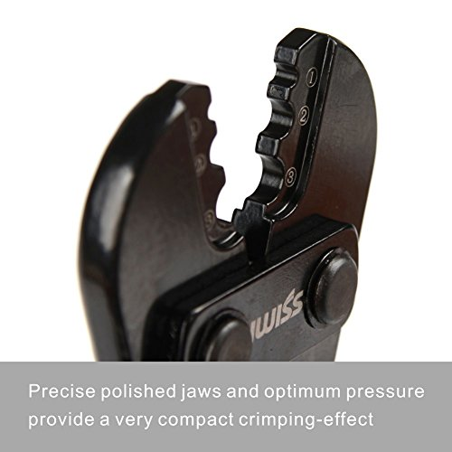 iwiss wire rope crimping tool for copper and aluminum oval sleeves and stop ebay. Black Bedroom Furniture Sets. Home Design Ideas
