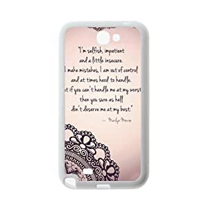 First Design Fashionable Stylish Marilyn Monroe Quote Unique Best Durable RUBBER Silicone Samsung Galaxy Note 2 N7100 Case