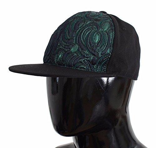 Dolce & Gabbana Green Black Brocade Silk - Gabbana Dolce And Hat