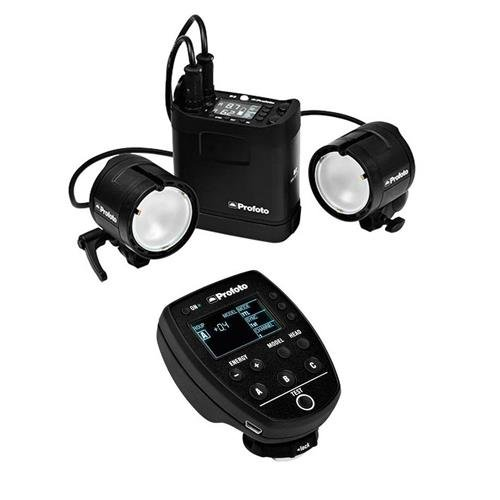Profoto B2 250 AirTTL Location Kit with B2 250 AirTTL Power Pack, 2x B2 Head, 2x Li-Ion Battery, Carrying Bag, Location Bag, Battery Charger - Bundle with Profoto Air Remote TTL-C Transmitter (Canon) by Profoto