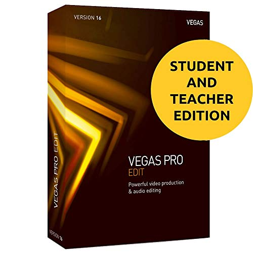 (Magix Vegas Pro Edit 16 for Students & Teachers - Professional Video and Audio Editing)