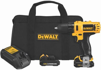 Black & Decker/Dewalt DCD710S2 Cordless Drill/Driver Kit, 3/8-In, 2-Speed, LED Worklight, 12-Volt Max Lith - Quantity 5