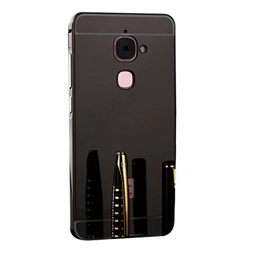 Letv Le Max 2 X820 Case,DAMONDY Luxury [Electroplating Series] Ultra Slim Hard Back Case Cover Metal Bumper [Mirror Case] Design For LeTV LeEco Le Max 2 X820 / X821 / X822 -Black