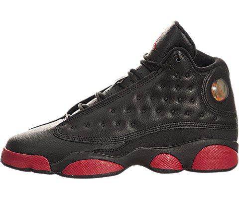 Jordan Nike Kids Air 13 Retro BG Black Gym Red Basketball Shoe 6 Kids US (Black And Red Jordan 13 Size 6)