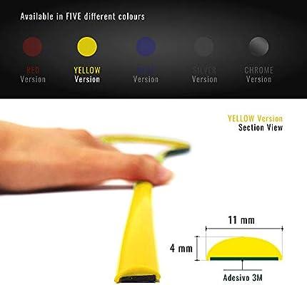 Quattroerre 31869 Perfil Amarillo Adhesivo para Parachoques ...
