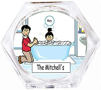 Amazon Com Printedperfection Com Personalized Drink Coaster Gift Bath Time Dad 1 Girl Home Kitchen