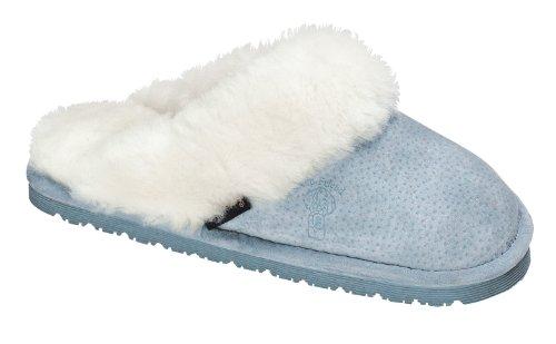 Vieil Ami Femmes 441169 Pantoufles En Peau De Mouton Pantoufle Lt Bleu