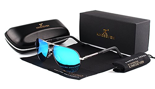 Genuine Kingseven quality aviator sunglasses 2018 fashion for men polarized and UV400 ()