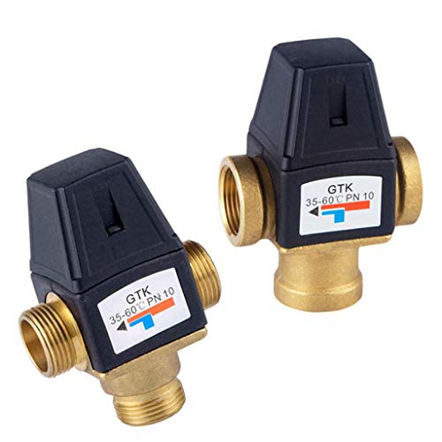 Flameer Brass Automatic Thermostatic Mixing Blending Valve Water Heater Shower Valve - DN20 Male by Flameer (Image #8)