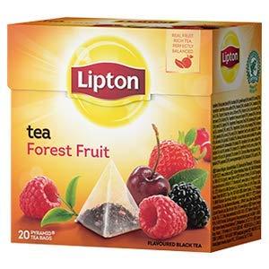 Lipton Black Tea - Forest Fruit - Premium Pyramid Tea Bags (20 Count Box)