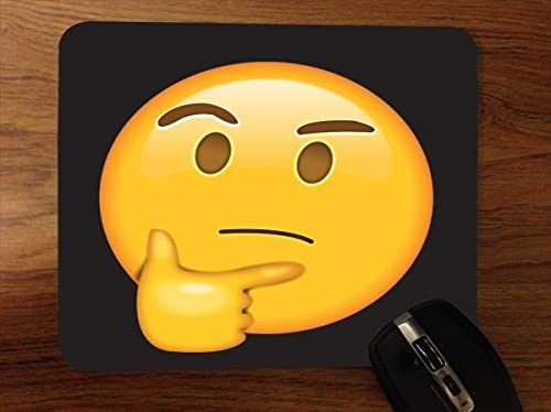 Think Pensador Emoji Emoticon cara sonriente amarillo fondo ...