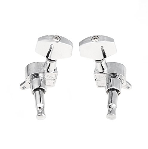 ammoon 3R 3L Chrome Electric Acoustic Guitar String Tuning Pegs Tuners Machine Heads by ammoon (Image #1)