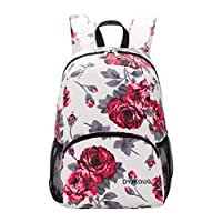 Womens School Backpack Colorful Pattern Lightweight Foldable College Bookbag Travel Laptop Rucksack for Girls Teens