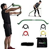 Gorilla Bow Full Portable Home Gym Resistance Band System   Weightlifting & HIIT Interval Training Kit   Full Body Workout Equipment
