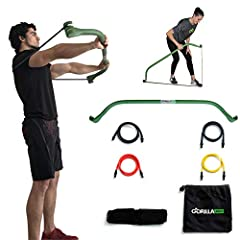 COMPLETE AT HOME WORKOUTGet a full body workout by combining modern resistance training with the Gorilla Bow mobile exercise system. This unique workout improves your balance, reduces joint pain, tones, increases acceleration and speed, and b...
