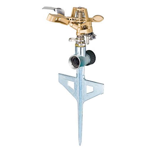 Melnor 9536CH 9536H All Metal Pulsating Sprinkler with Step Spike, Head & Base