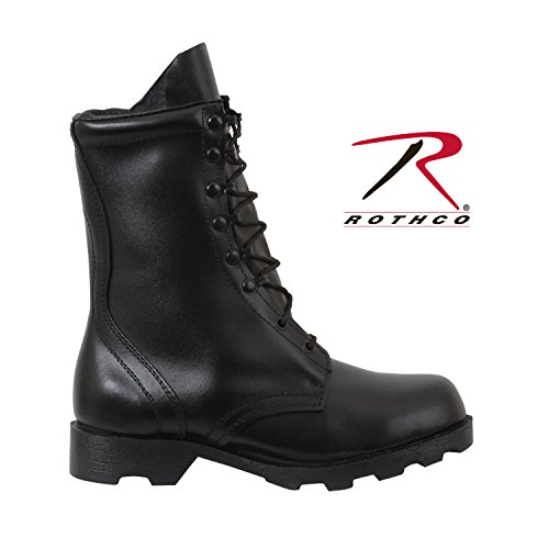 Rothco 10'' Leather Speedlace Combat Boot, Black, 10 (Speedlace Black Leather Combat Boots)