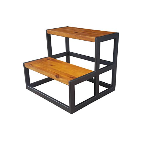 Design 59 inc Acacia Hardwood Step Stool/Bed Steps/Plant Stand, NO Assembly Required by Design 59 inc (Image #1)