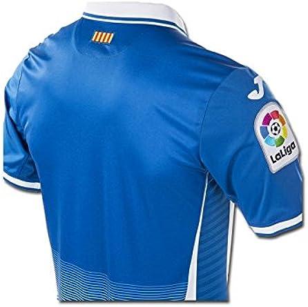 Camiseta Joma RCD Espanyol Home 2017-2018 Azul-Blanco: Amazon.es ...