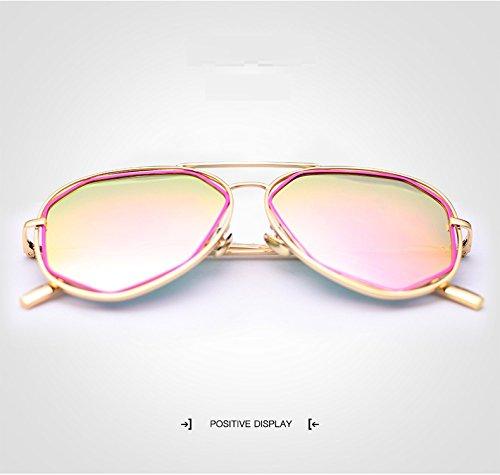 para Brand polarizado Ruanyi Vintage para 1 de Sol Gafas Adultos Dama Irregulares de Gafas UV400 piloto Fashion Sol Designer qYzqap