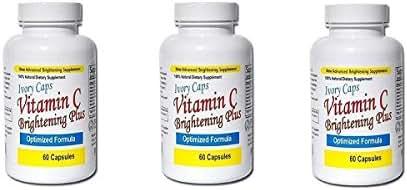 3 Pack - Ivory Caps Maximum Strength Vitamin C Brightening Plus 60 Caps