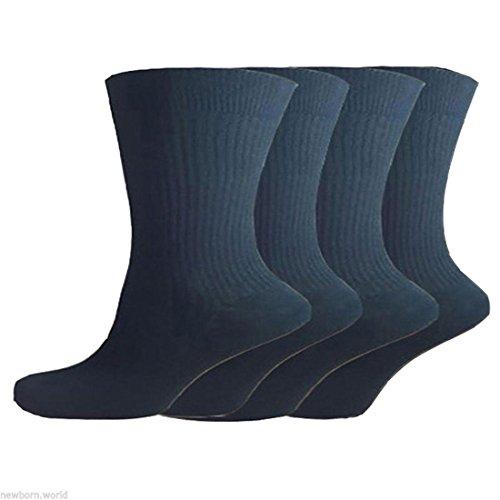 Rimi Hanger Mens Non Elastic 100% Pure Cotton Socks 12 Pairs Gentle Grip Soft Top Diabetic Black One (Elastic Mens Socks)