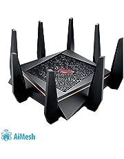 Asus GT-AC5300 ROG Rapture Oyun Yönlendirici (Ai Mesh WLAN Sistemi, WiFi 5 AC5300, Oyun Motoru, 8 x Gigabit LAN Bağlantısı Toplama, Uygulama Kontrolü, AiProtection, Çok Fonksiyonlu USB 3.0)