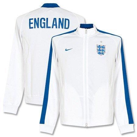 Nike Men's New England N98 Authentic International Track Jacket, White/Game Royal, X-Large