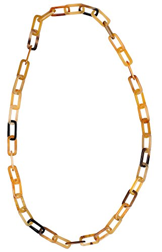 Marycrafts Womens Handmade Buffalo Horn Fashion Long Chain Necklaces Amber ()